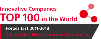 [Innovative Companies] TOP 100 in the World [Forbes List 2011-2018 The World's Most Innovative Companies]