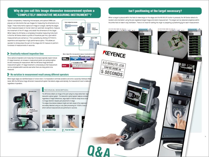 "IM Series Image Dimension Measurement System ""Just Place & Press"" Clear & Simple Explanation for Q & A [Structure, Principle] (English)"