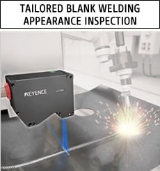 Tailored blank welding appearance inspection