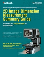 IM Series 2D Image Dimension Measurement Summary Guide